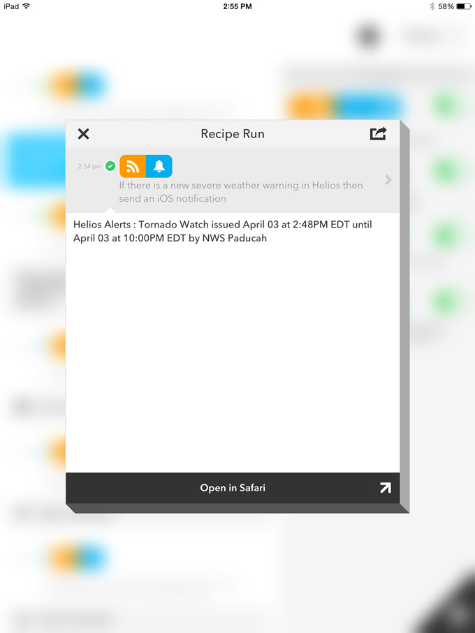 Integration with IFTTT | Helios
